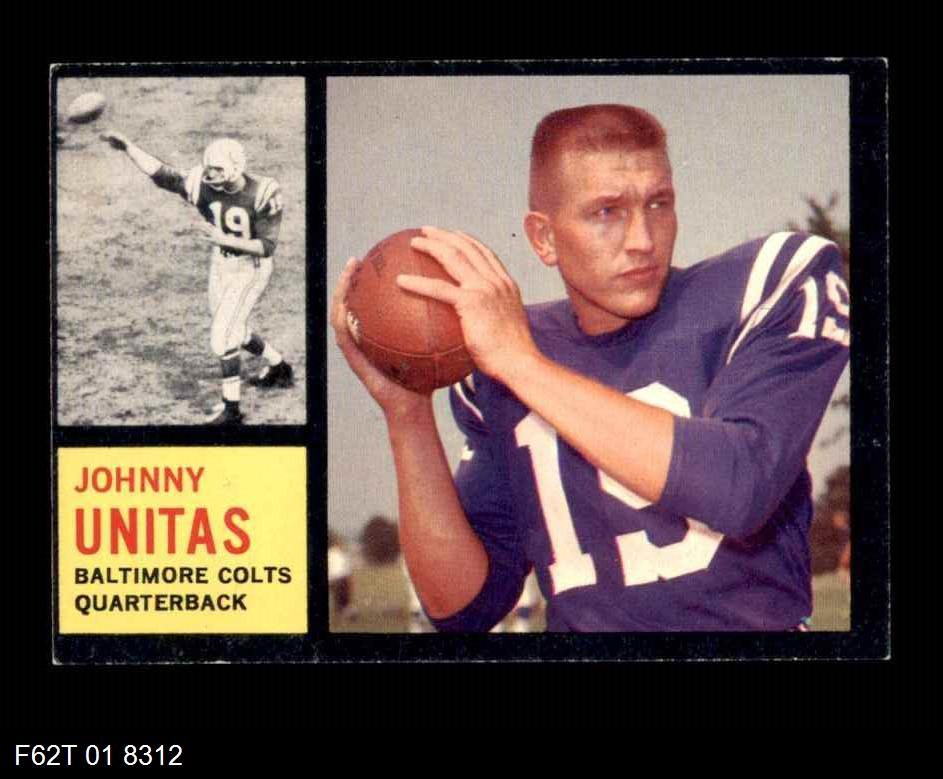 1962 Topps #1  Johnny John Unitas
