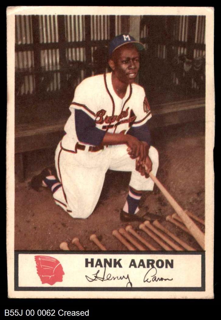 1955 Johnston Cookies #44  Hank Aaron