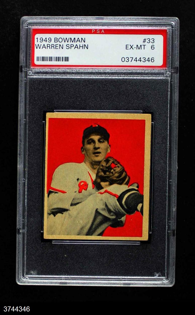 1949 Bowman #33  Warren Spahn