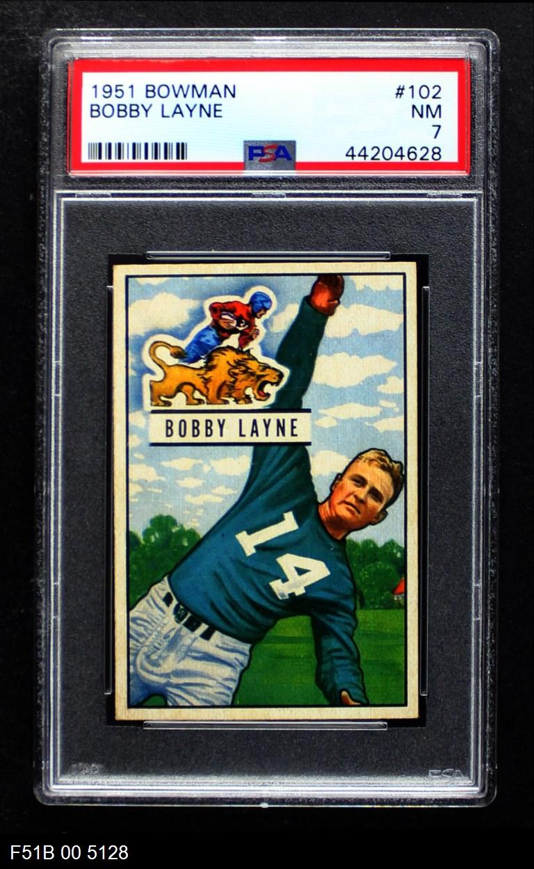 1951 Bowman #102  Bob Bobby Layne