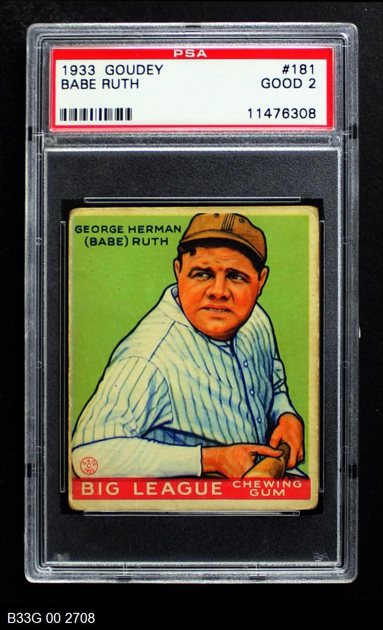 1933 Goudey #181  Babe Ruth
