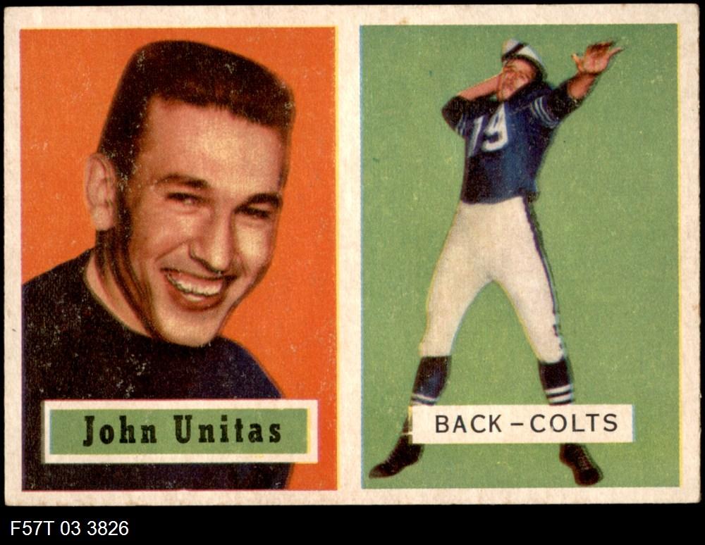 1957 Topps #138  Johnny John Unitas