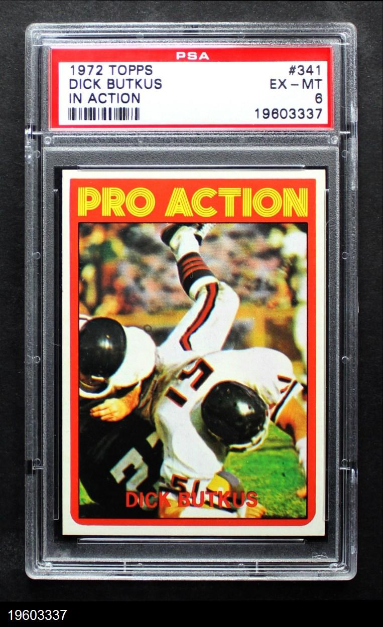 1972 Topps #341 Pro Action  -  Dick Butkus