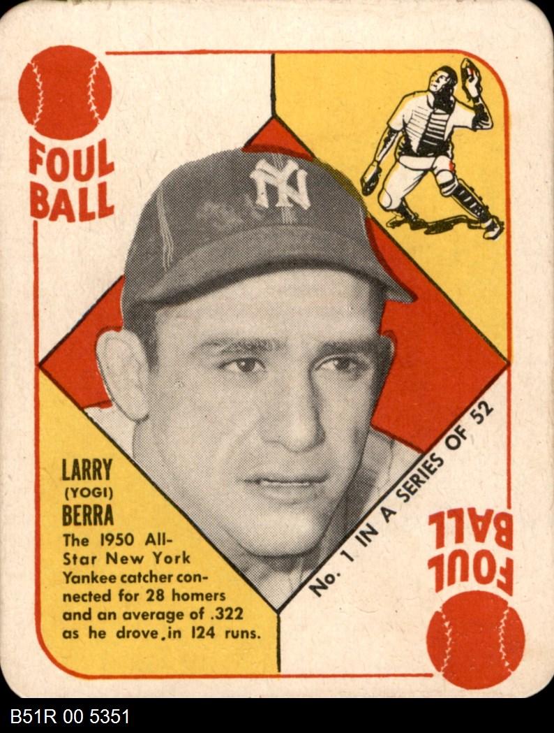 1951 Topps Red Back #1  Yogi Berra