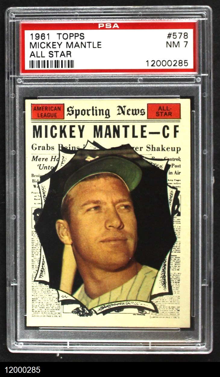 1961 Topps #578 All-Star  -  Mickey Mantle