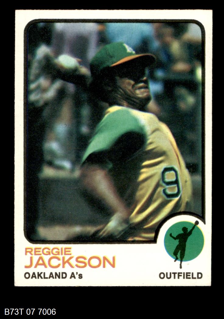 1973 Topps #255  Reggie Jackson