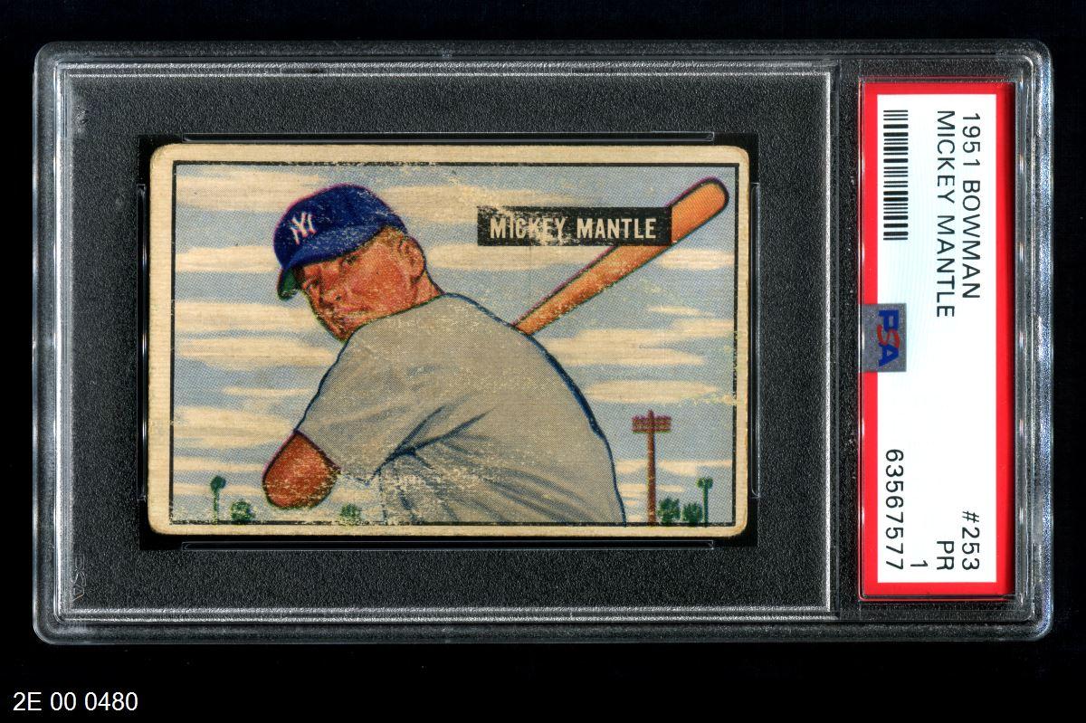 1951 Bowman #253  Mickey Mantle