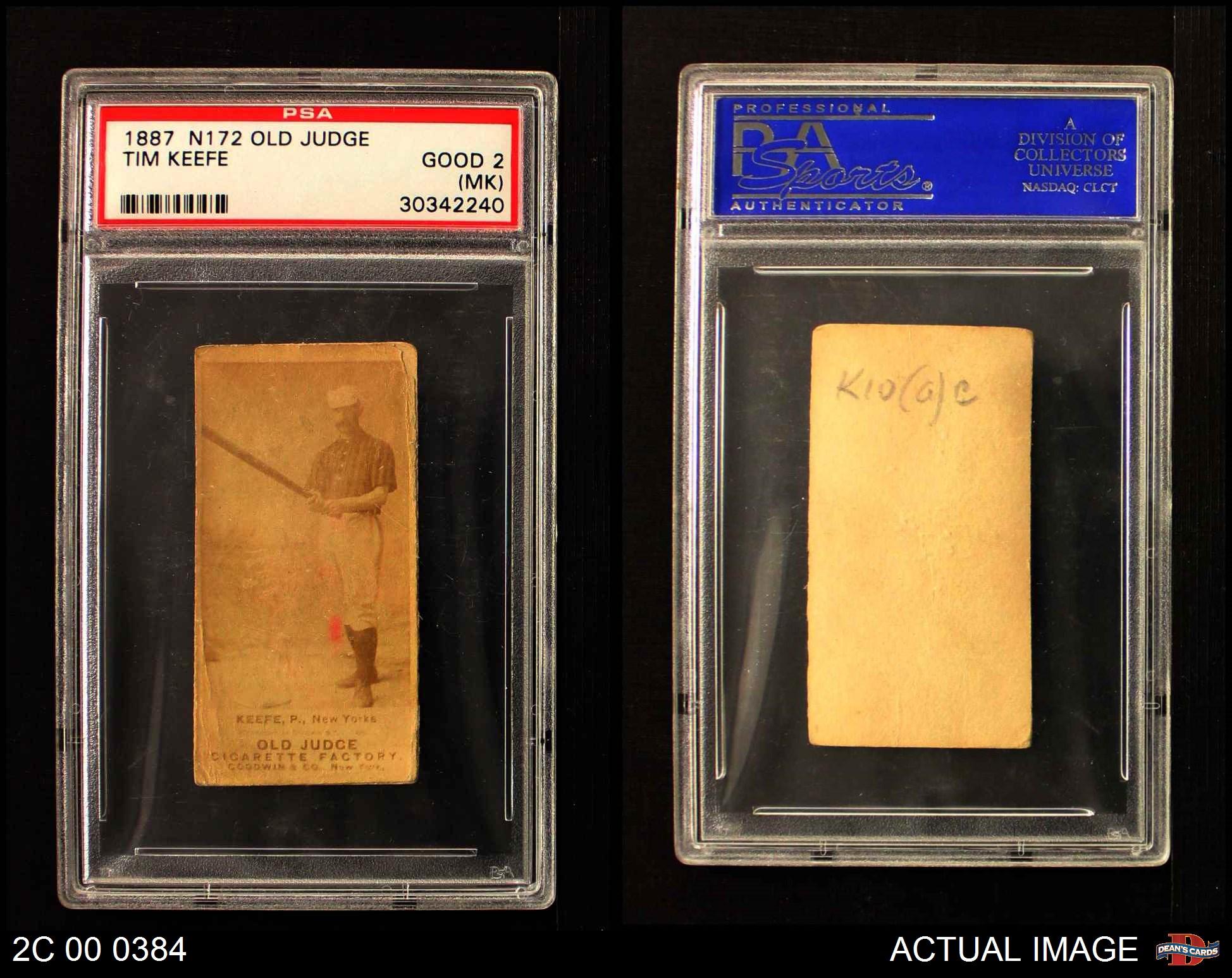 1887-N172-Old-Judge-Tim-Keefe-PSA-1-POOR