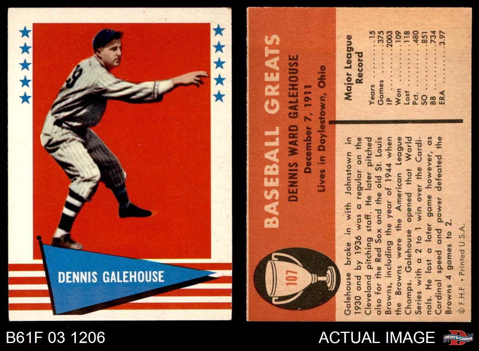 1961-Fleer-107-Dennis-Galehouse-Indians-EX-MT thumbnail 4