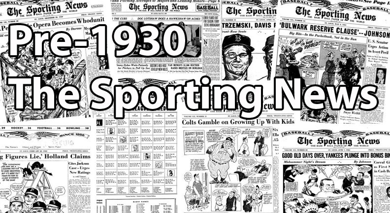 Buy Pre-1930 Sporting News Cards, Sell Pre-1930 Sporting