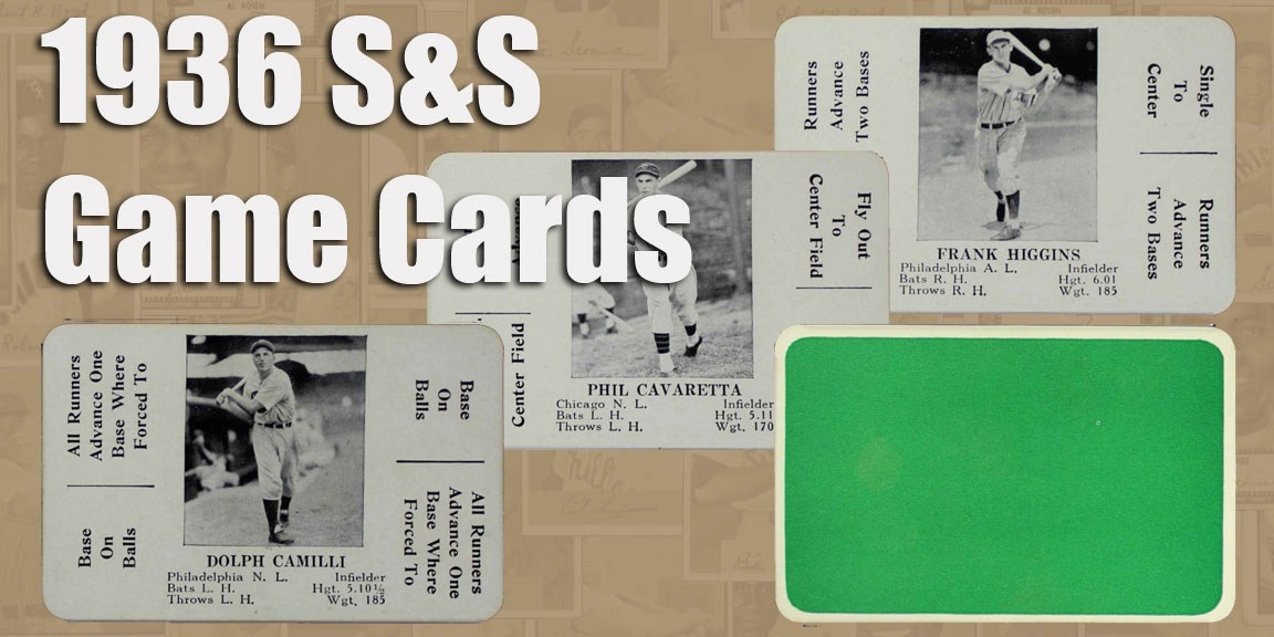 1936 S & S Game Baseball Cards