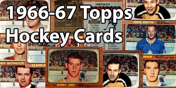 1966-67 Topps Hockey Cards