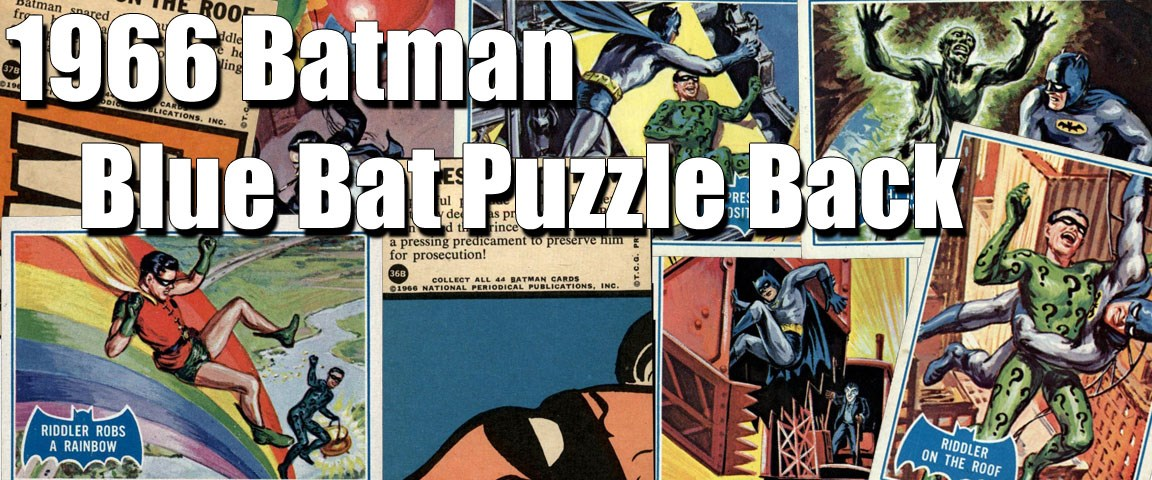 1966 Topps Batman Blue Bat Puzzle Back