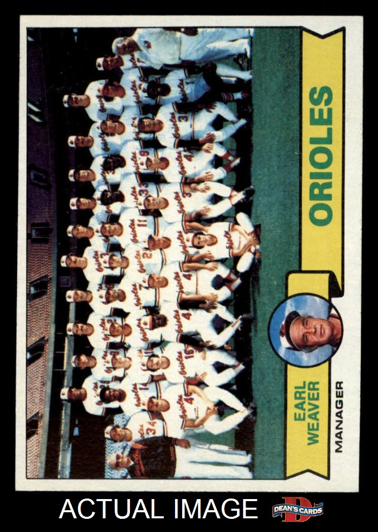 1979 Topps 1979 Topps Baltimore Orioles Team Set