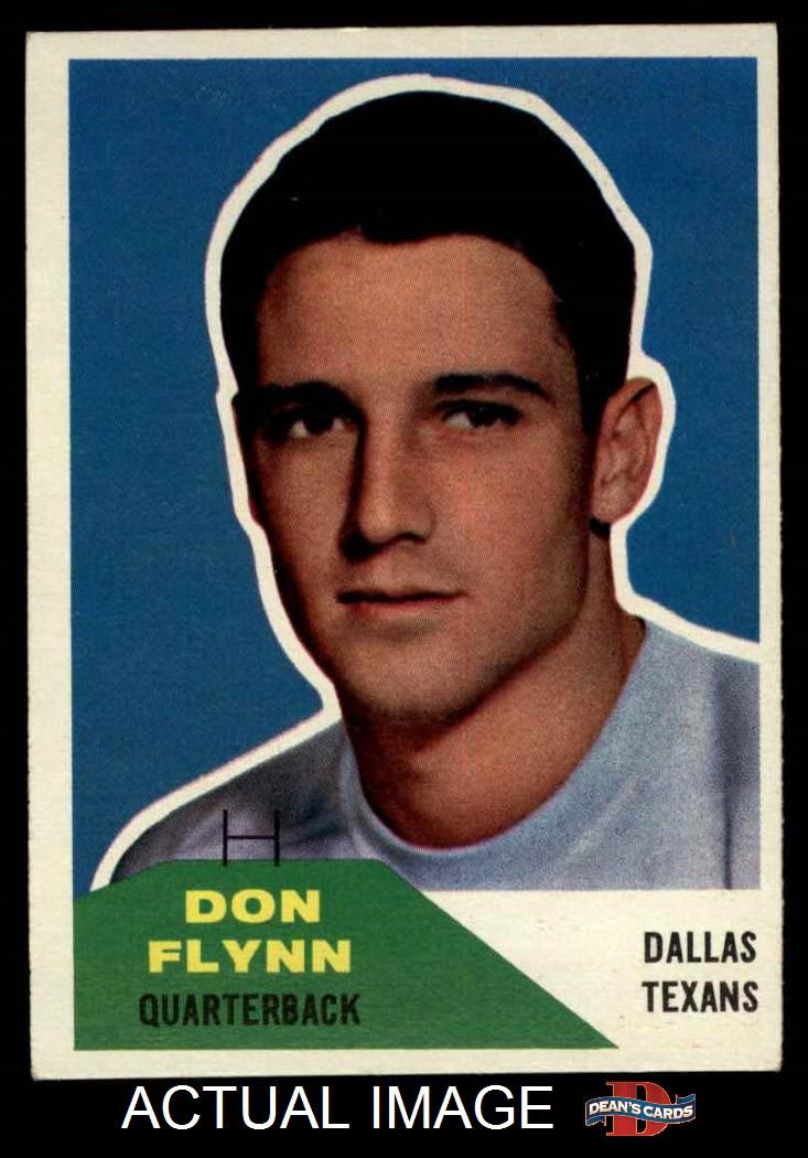 1960 Fleer 32 Don Flynn Texans Chiefs 6 - EX/MT - $5.50