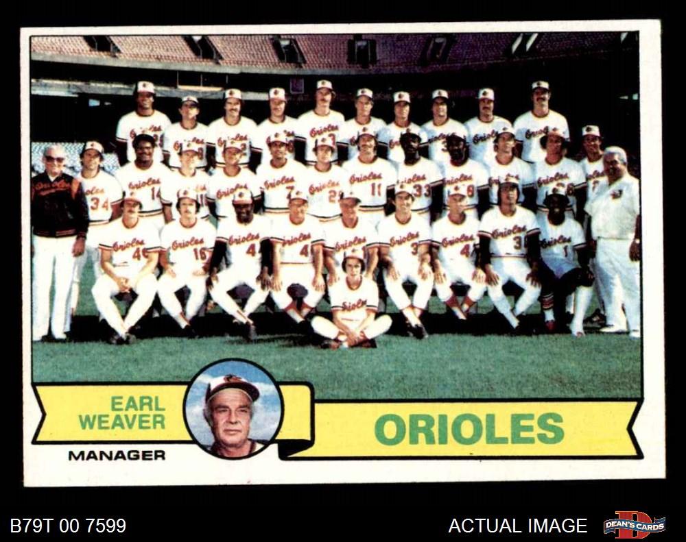 1979 Topps 1979 Topps Baltimore Orioles Team Set