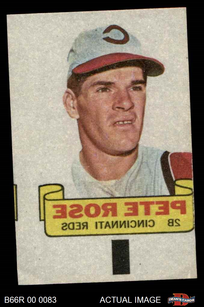 1966 Topps Rub Off S Baseball Partial Complete Set 4 Vgex