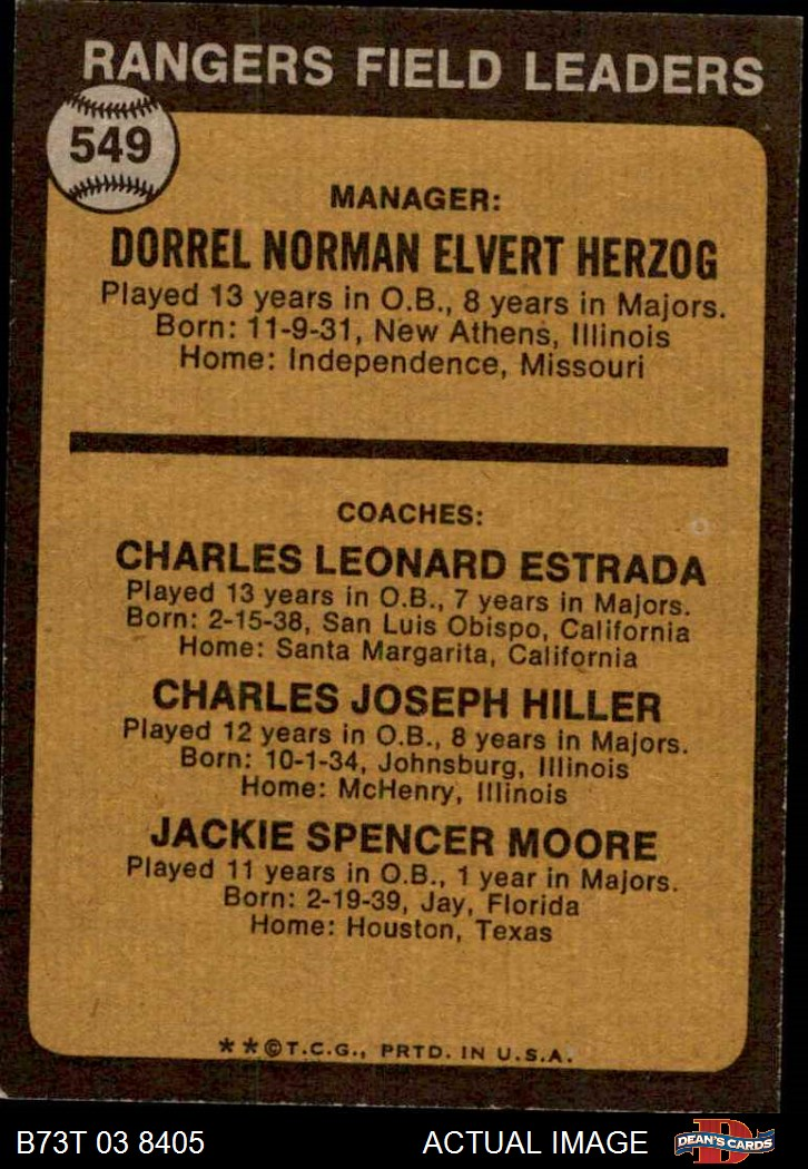 Verzamelkaarten: sport 1973 Topps #612 Steve Lawson Bob Reynolds Brent Strom Texas Rangers RC Card