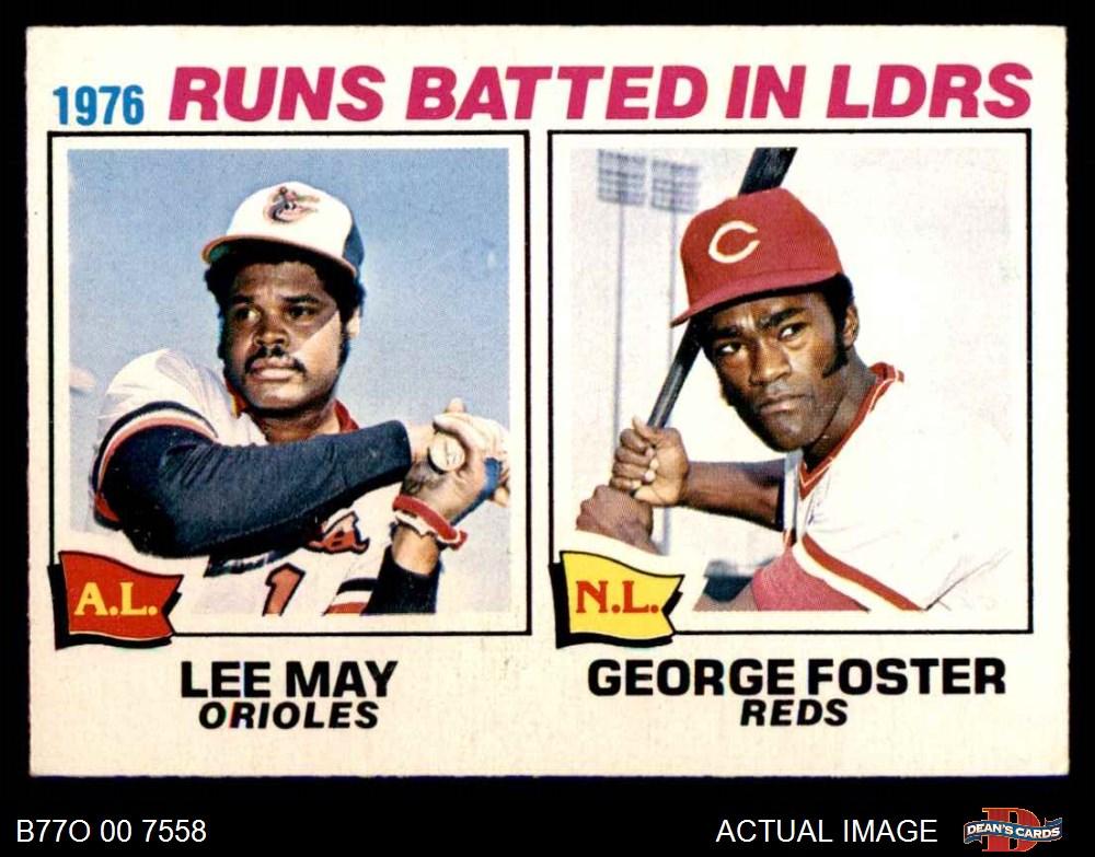 1977 O-Pee-Chee #120 George Foster Cincinnati Reds Baseball Card