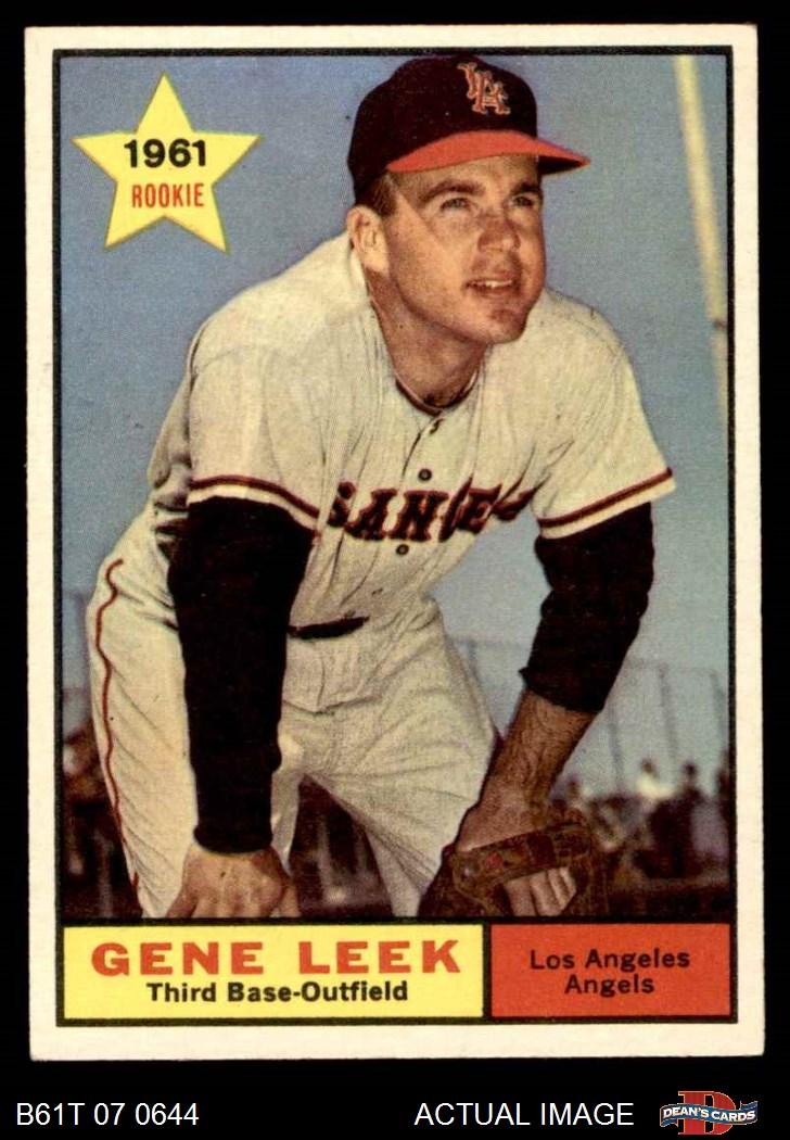 1961 Topps Los Angeles Angels Team Set 6 Exmt
