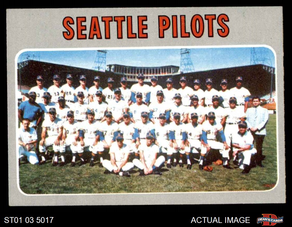 1970 topps 1970 topps seattle pilots team set