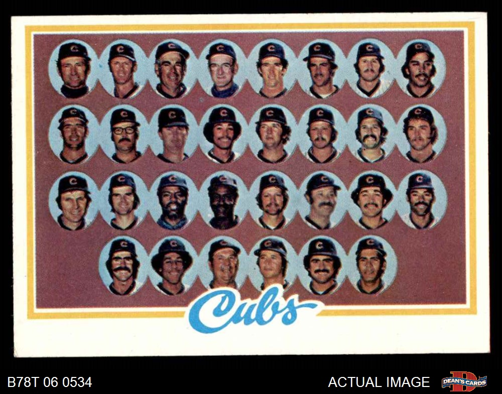 EX//MT Cubs Baseball Card 1978 Topps # 523 Donnie Moore Chicago Cubs