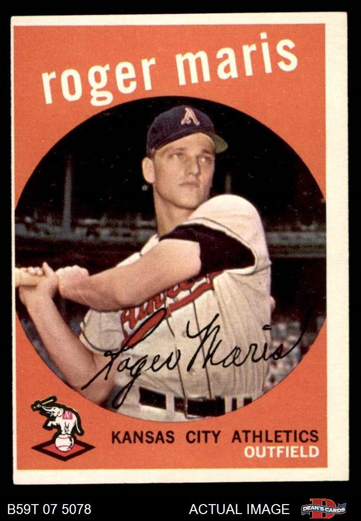 Honkbal Verzamelkaarten: sport Bob Cerv All Star Kansas City Athletics 1958 Style Custom Baseball Art Card