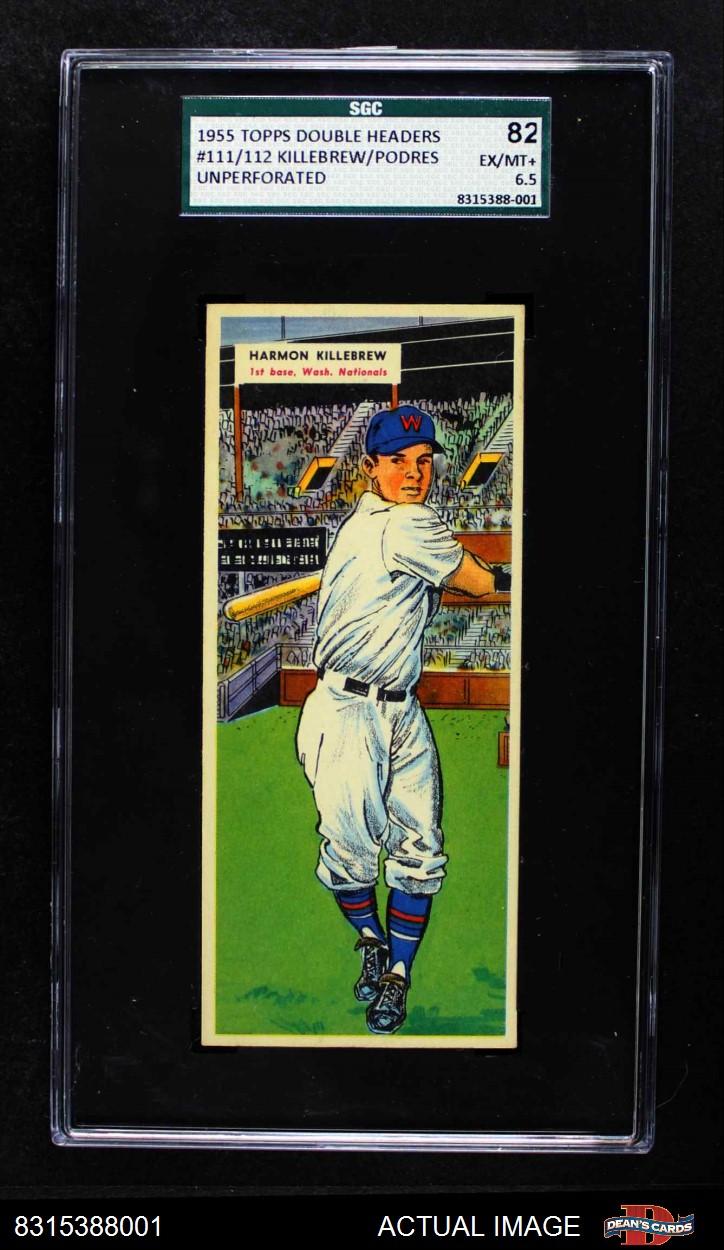 1955 Topps Doubleheaders Topps Double Header Baseball