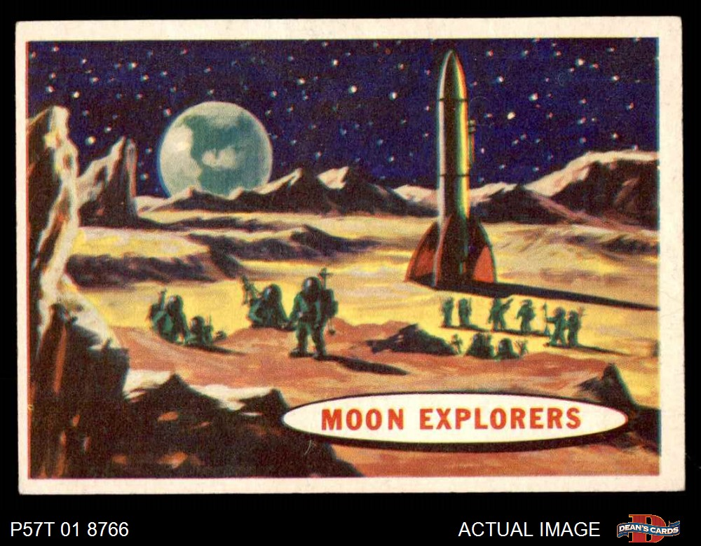1957 Topps Space #50 Enjoying Earthshine  EX