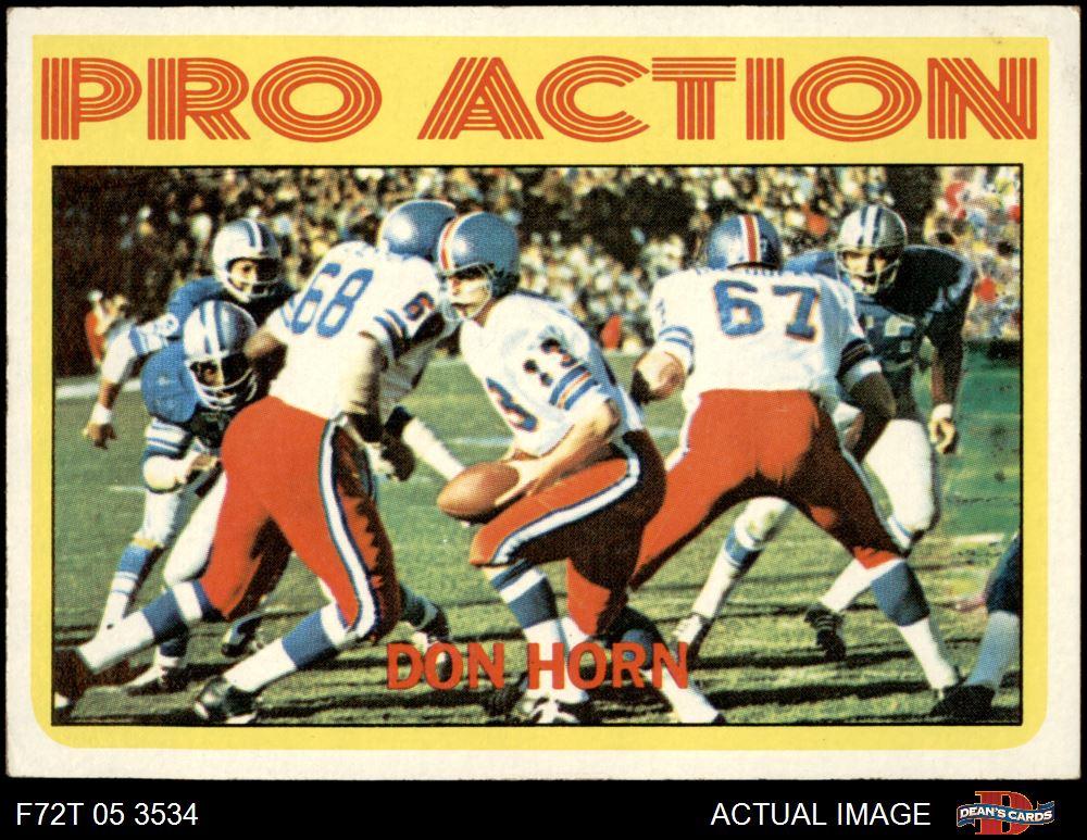 VG//EX Broncos Football Card 1972 Topps # 50 Floyd Little Denver Broncos Deans Cards 4