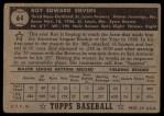 1952 Topps #64  Roy Sievers  Back Thumbnail