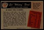 1955 Bowman #59  Whitey Ford  Back Thumbnail