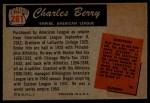 1955 Bowman #281  Charles Berry  Back Thumbnail