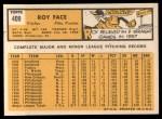 1963 Topps #409 xTCH Roy Face  Back Thumbnail