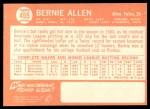 1964 Topps #455  Bernie Allen  Back Thumbnail