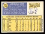 1970 Topps #124  Larry Jaster  Back Thumbnail
