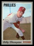 1970 Topps #149  Billy Champion  Front Thumbnail