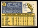 1970 Topps #326  Bill Voss  Back Thumbnail