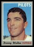 1970 Topps #134  Danny Walton  Front Thumbnail