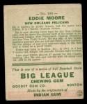 1933 Goudey #180  Eddie Moore  Back Thumbnail