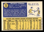 1970 Topps #398  Bill Stoneman  Back Thumbnail