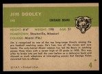 1961 Fleer #4  Jim Dooley  Back Thumbnail