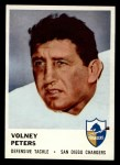 1961 Fleer #165  Volney Peters  Front Thumbnail