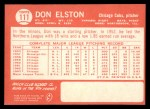 1964 Topps #111  Don Elston  Back Thumbnail