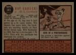 1962 Topps #383  Ray Sadecki  Back Thumbnail