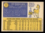 1970 Topps #215  Reggie Smith  Back Thumbnail