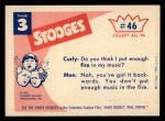 1959 Fleer Three Stooges #46   Singing in the Shower.  Back Thumbnail