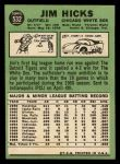 1967 Topps #532  Jim Hicks  Back Thumbnail