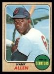 1968 Topps #426  Hank Allen  Front Thumbnail