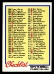 1978 Topps #435   Checklist 4 Front Thumbnail